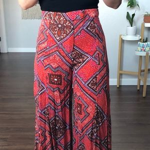Anthropologie High-Rise Bellbottom Patterned Pants